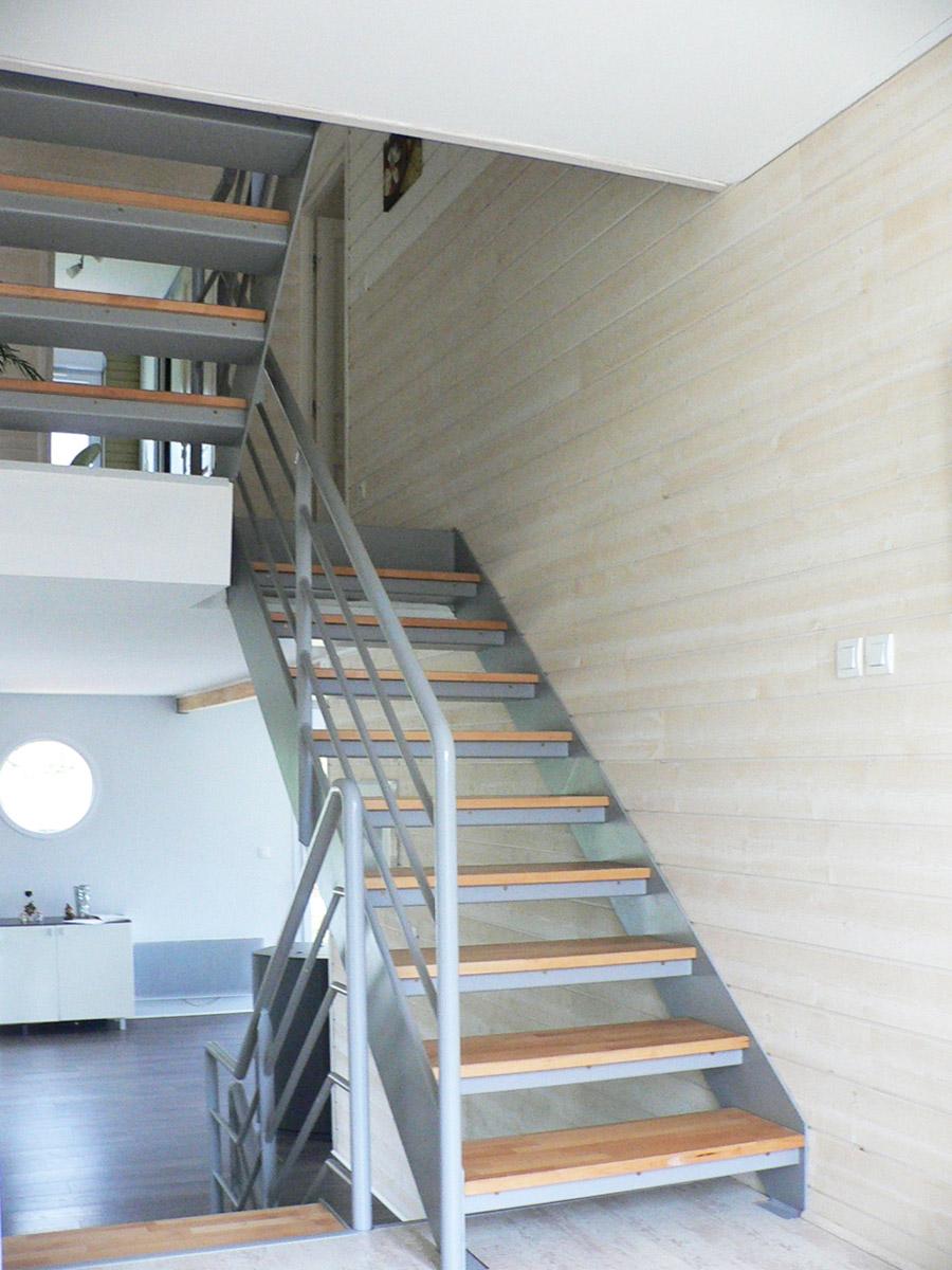 Un Escalier A Quatre Volees Droites Ehi Escalier