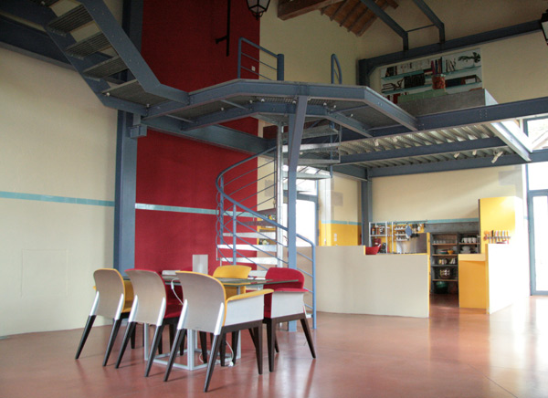 escalier hélicoïdal Marches caillebotis pour l'escalier d'un loft