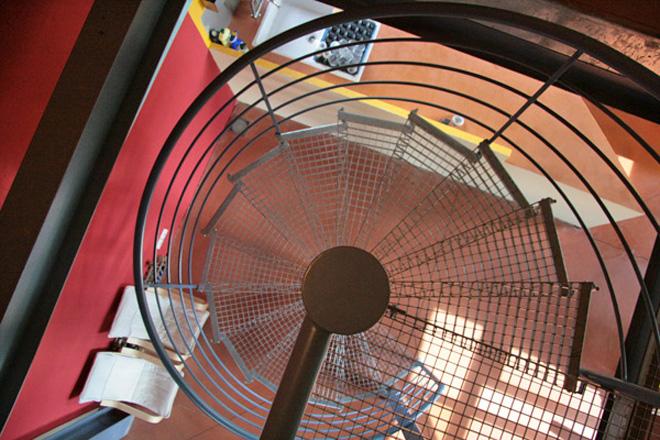 Marches caillebotis pour l'escalier d'un loft