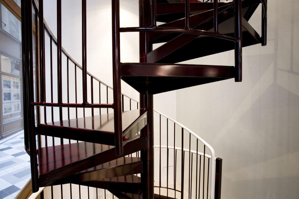 escalier thermolaqué