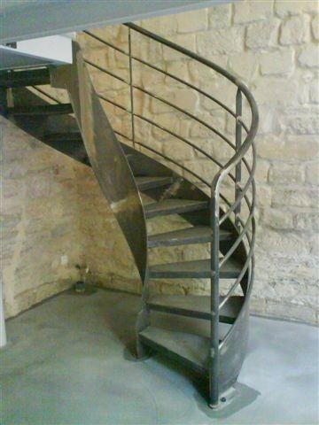 Escalier Balance Acier Brut Acces Mezzanine Ehi Escalier