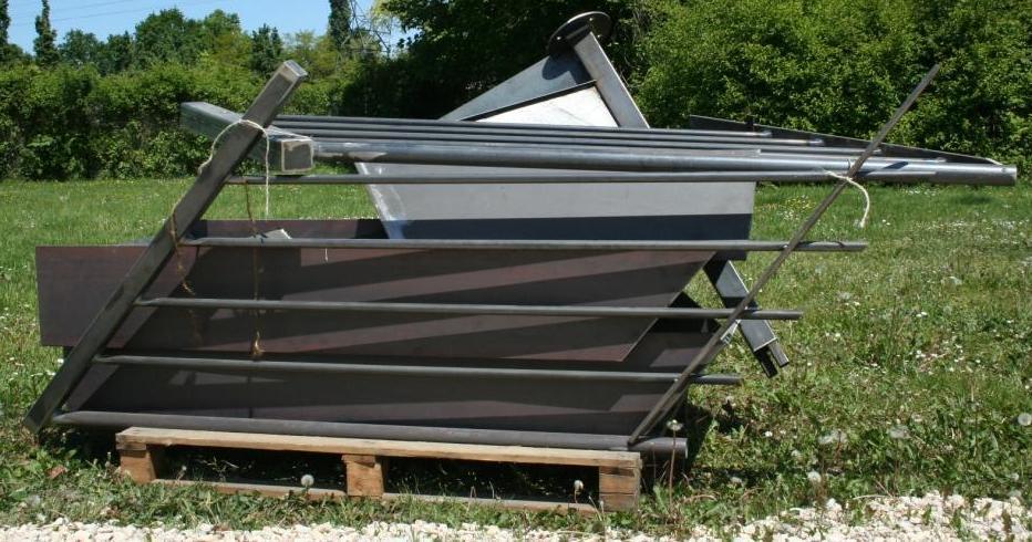 Conditionnement et livraison des escaliers ehi escalier h lico dal indust - Escalier metallique exterieur occasion ...