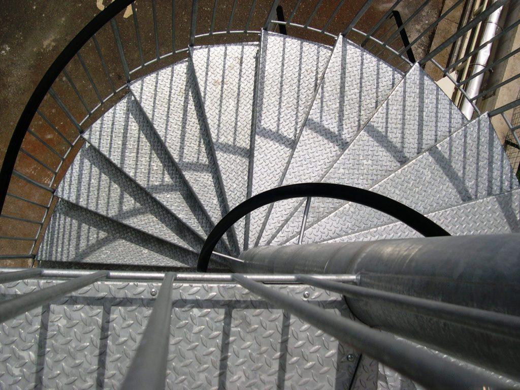 escalier exterieur galvanise