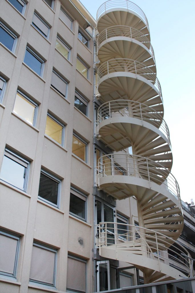 Escalier hélicoïdal 2 UP sur 8 niveaux