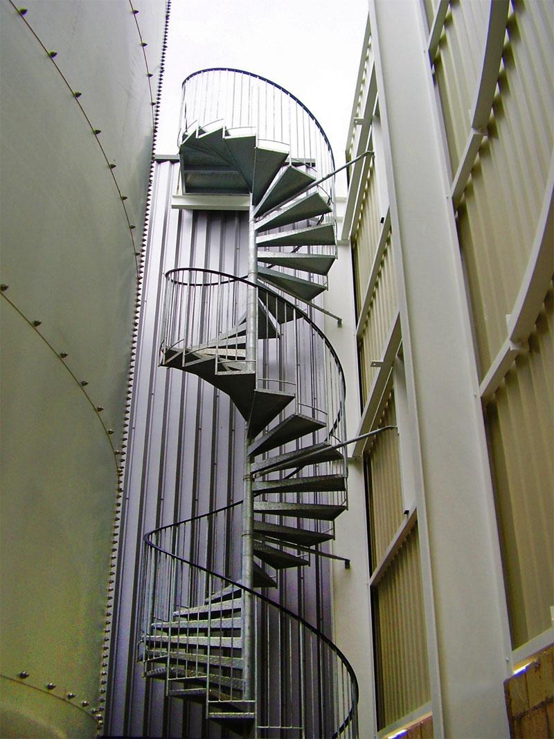 Escalier Helicoidal Industriel Grandes Hauteurs Ehi