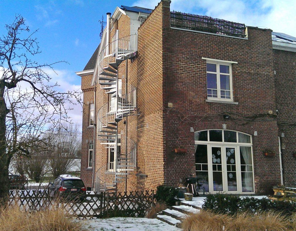 un escalier hélicoïdal en Belgique