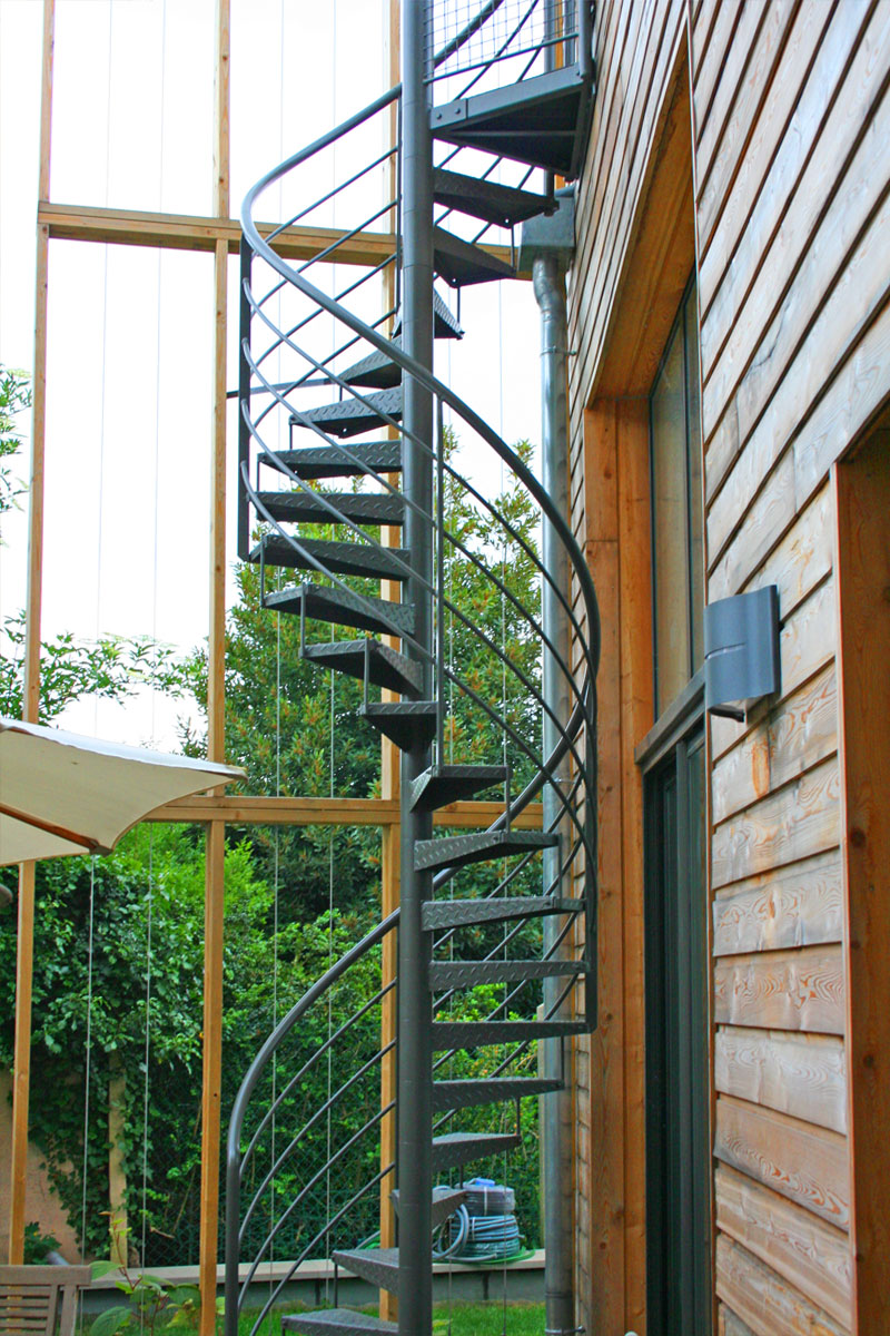 Escalier En Helice Pour Acces A La Terrasse Ehi Escalier